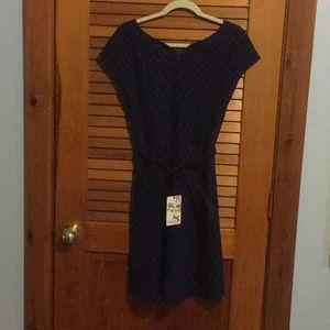 Yoana Baraschi Blue and Black Stripe Dress
